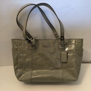 NWT Coach Gallery Embossed Patent Leather Tote